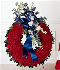 All American Tribute™ Wreath by Angel Lucys Funeral Florist - Victoria, TX