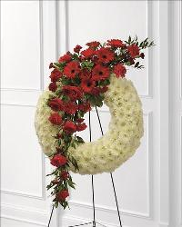 Graceful Tribute Wreath by Angel Lucys Funeral Florist - Victoria, TX