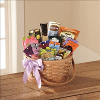 Quiet Tribute Gourmet Basket by Angel Lucys Funeral Florist - Victoria, TX