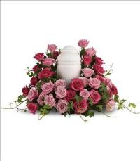 Bed of Pink Roses by Angel Lucys Funeral Florist - Victoria, TX