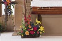 Basket with Summer Flowers by Angel Lucys Funeral Florist - Victoria, TX