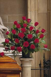 Basket with 24 Red Roses by Angel Lucys Funeral Florist - Victoria, TX